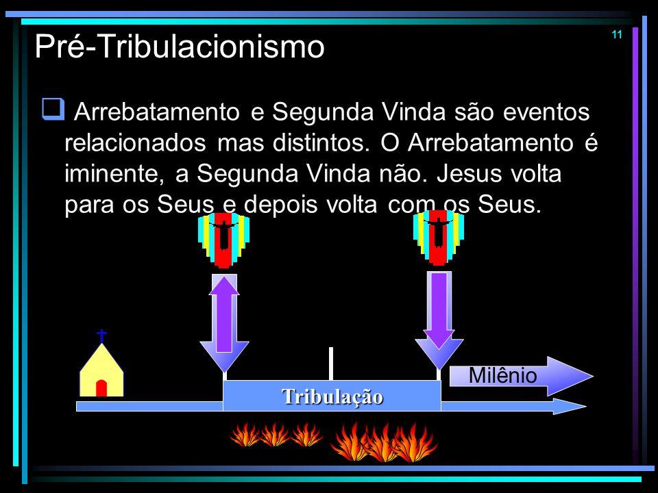 10 Parcialismo  A Igreja será arrebatada em estágios determinados pelo grau de fidelidade e espiritualidade de cada crente. Tribulação Milênio