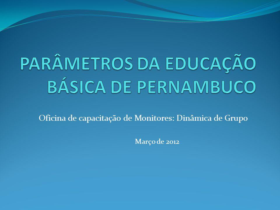 Oficina de capacitação de Monitores: Dinâmica de Grupo Março de 2012