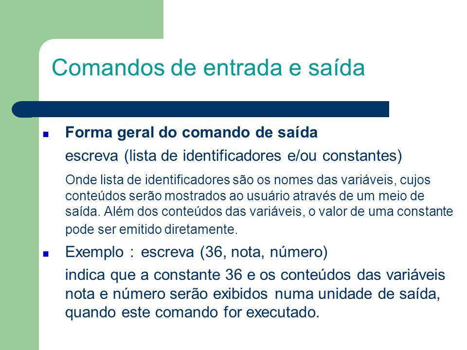 Exemplos - leia Foram digitadas três linhas, onde cada uma delas contém o nome e a nota de um aluno, como se segue PAULO, 100 MARIA, 75 JOSE, 80 Escrever o(s) comandos(s) de entrada que leia(m) estas linhas e armazene(m) os valores na memória principal.