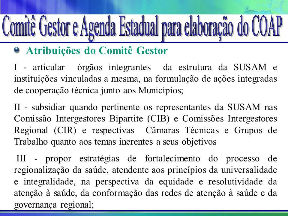 Projeto Amigo do Lago da Serra da Mesa Atribuições do Comitê Gestor I - articular órgãos integrantes da estrutura da SUSAM e instituições vinculadas a
