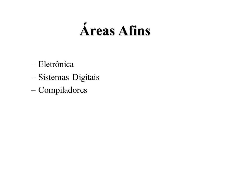 Áreas Afins –Eletrônica –Sistemas Digitais –Compiladores