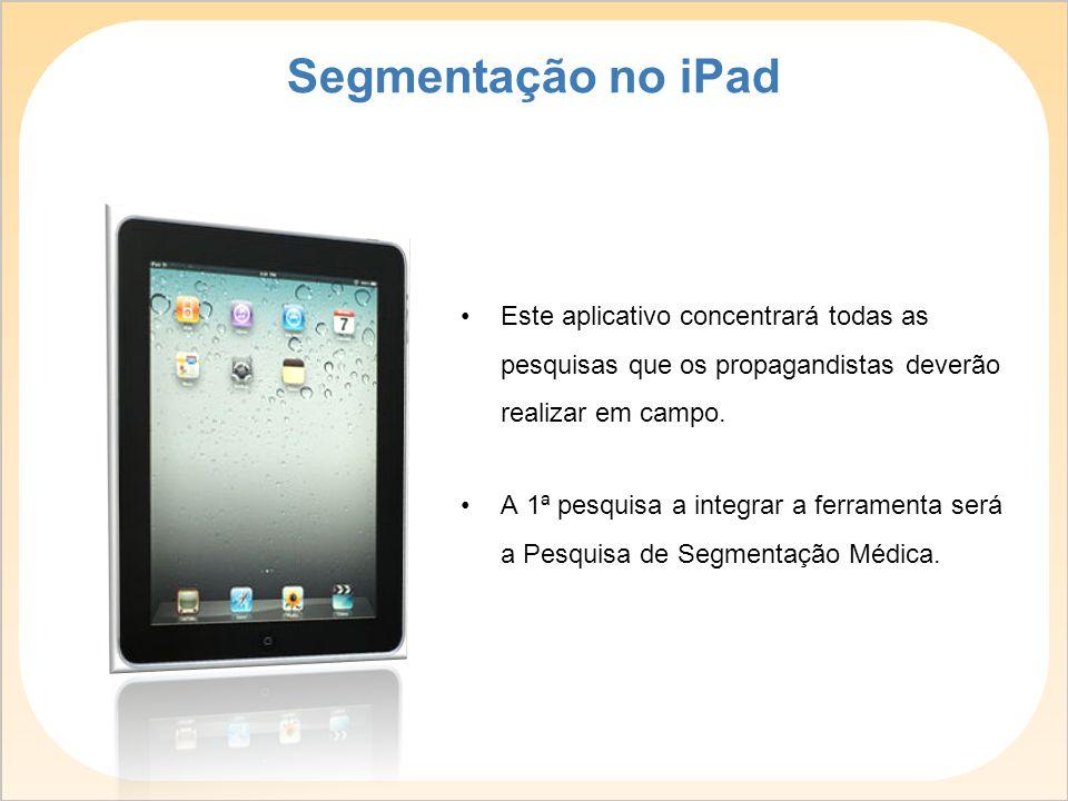 O envelope amarelinho será substituído pelo iPad, facilitando a apresentação da pesquisa ao médico e a coleta e tabulação dos dados.