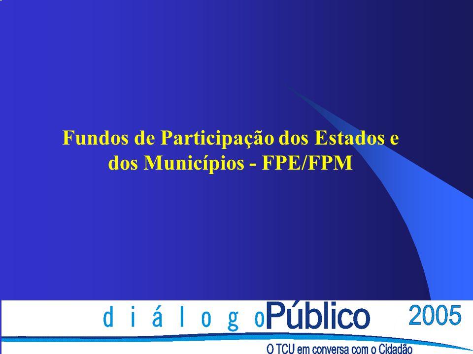 Fundos de Participação dos Estados e dos Municípios - FPE/FPM
