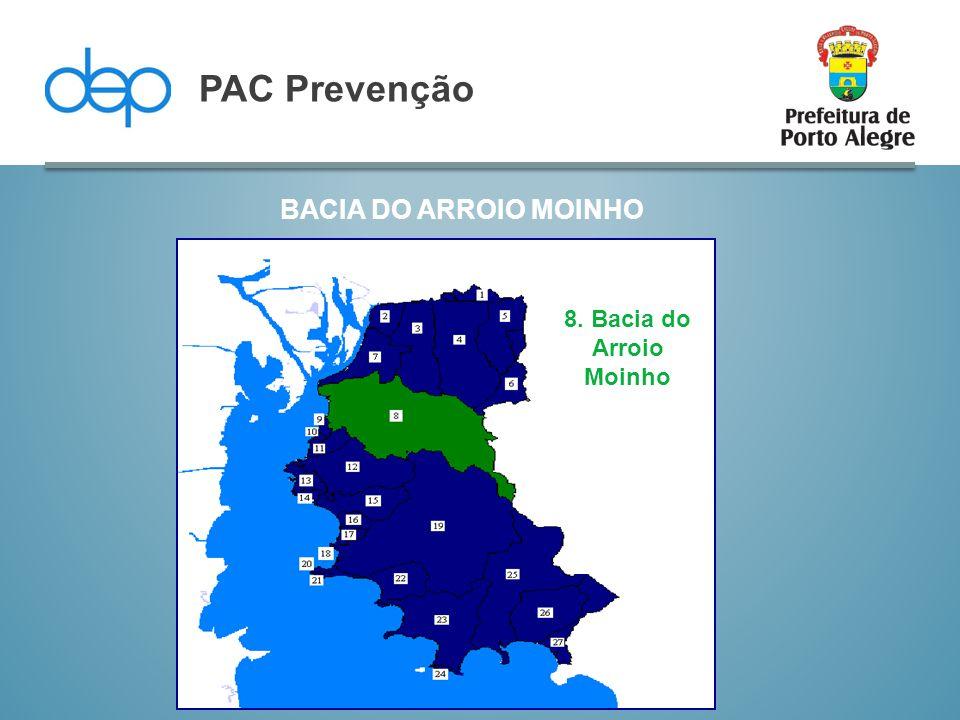 BACIA DO ARROIO MOINHO PAC Prevenção 8. Bacia do Arroio Moinho