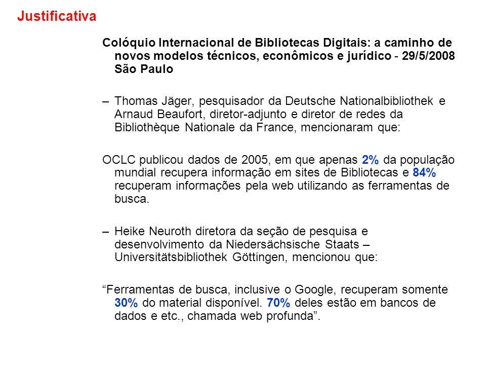 Colóquio Internacional de Bibliotecas Digitais: a caminho de novos modelos técnicos, econômicos e jurídico - 29/5/2008 São Paulo –Thomas Jäger, pesqui