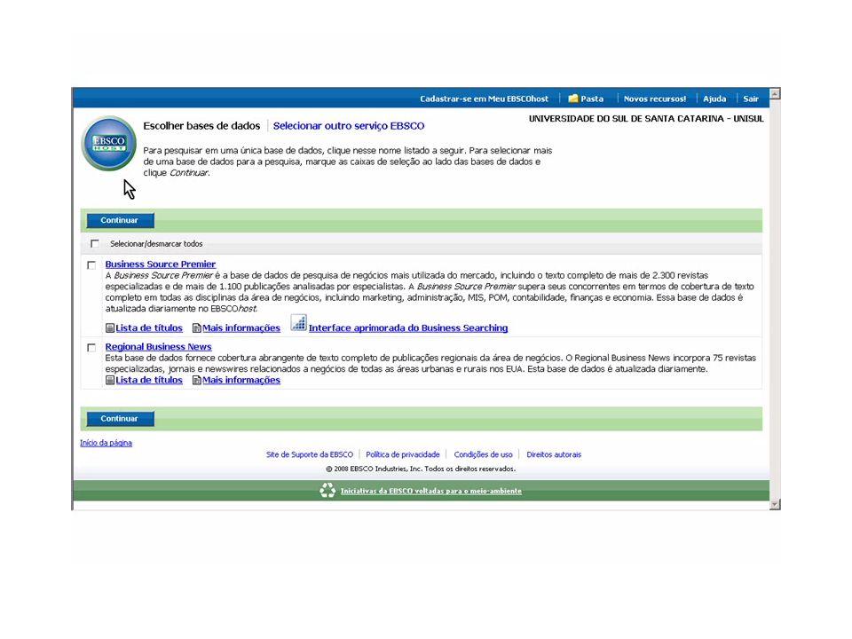 Produtos:  Assinatura e disponibilização das bases de dados NTIS, Academic OneFile e Journals@OVID (convênio com a CAPES)  Divulgação das bases de conteúdos: elaboração de um plano de comunicação  Capacitação aos colaboradores das Bibliotecas no uso das bases de dados (84 colaboradores – 3 capacitações realizadas):