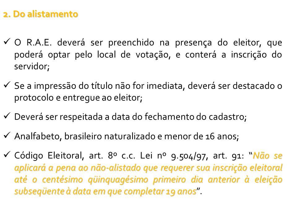 14.DA REVISÃO DE ELEITORADO 14.