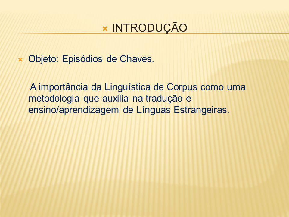  INTRODUÇÃO  Objeto: Episódios de Chaves.