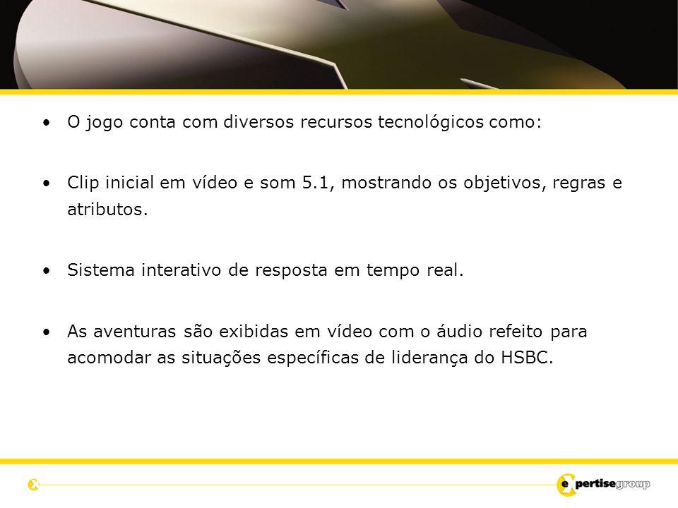 O jogo conta com diversos recursos tecnológicos como: Clip inicial em vídeo e som 5.1, mostrando os objetivos, regras e atributos. Sistema interativo