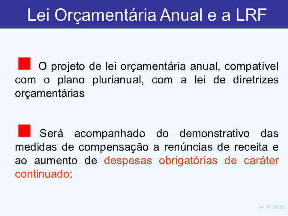 O projeto de lei orçamentária anual, compatível com o plano plurianual, com a lei de diretrizes orçamentárias Será acompanhado do demonstrativo das me