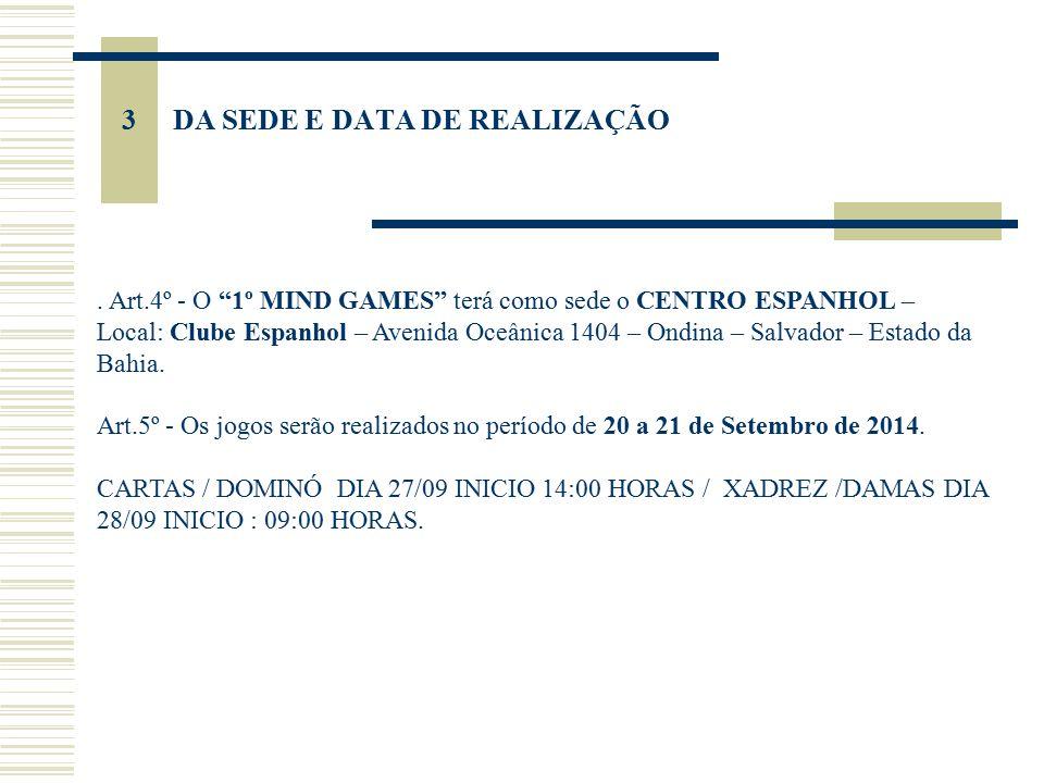 4 DAS MODALIDADES E CATEGORIAS Art.6º - A competição contará com as seguintes modalidades : MODALIDADECATEGORIANº MÁX.