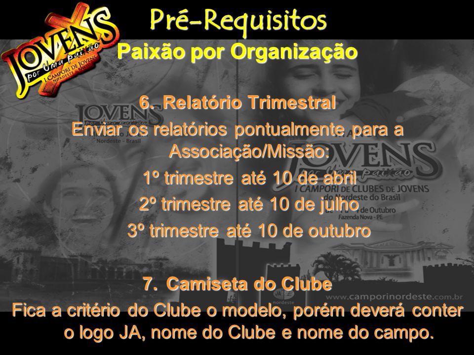 Pré-Requisitos Paixão por Liderança 1.Capelão Nomear um capelão de Jovens para seu Clube, que deverá estar presente no Campori.