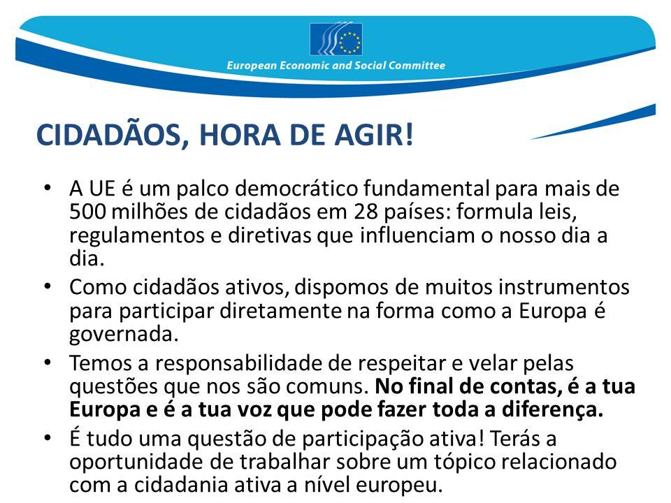 A UE é um palco democrático fundamental para mais de 500 milhões de cidadãos em 28 países: formula leis, regulamentos e diretivas que influenciam o no