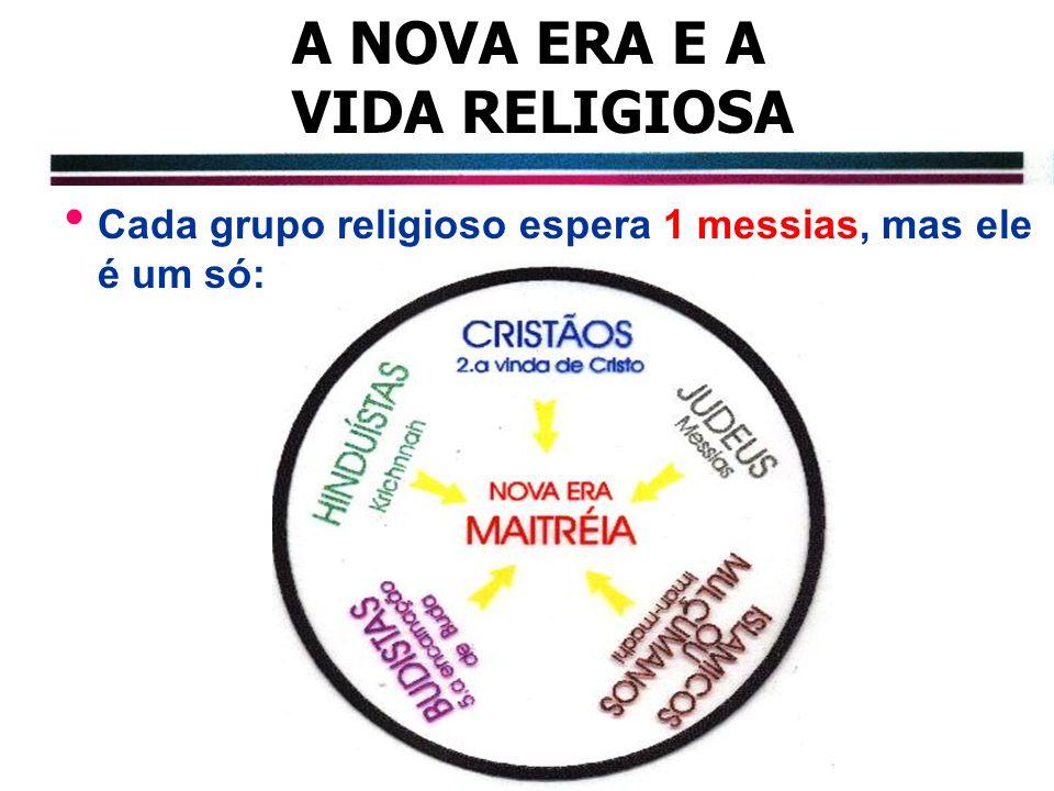A NOVA ERA E A VIDA RELIGIOSA Cada grupo religioso espera 1 messias, mas ele é um só: