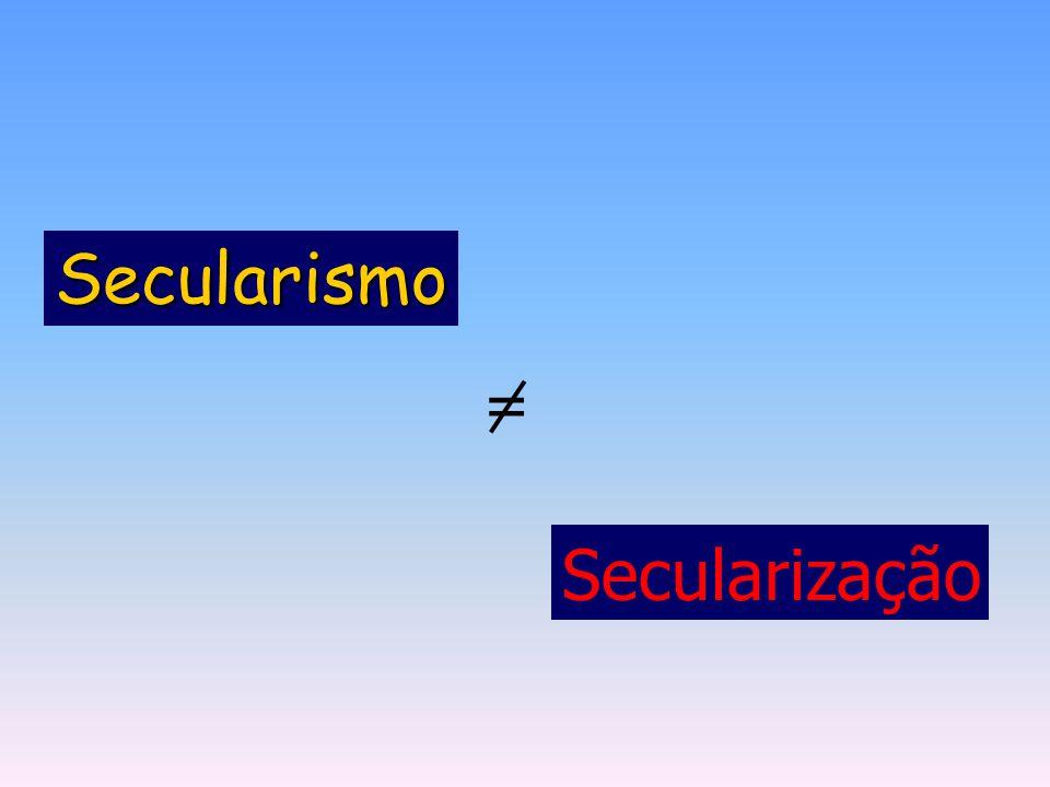 = Secularização Secularismo