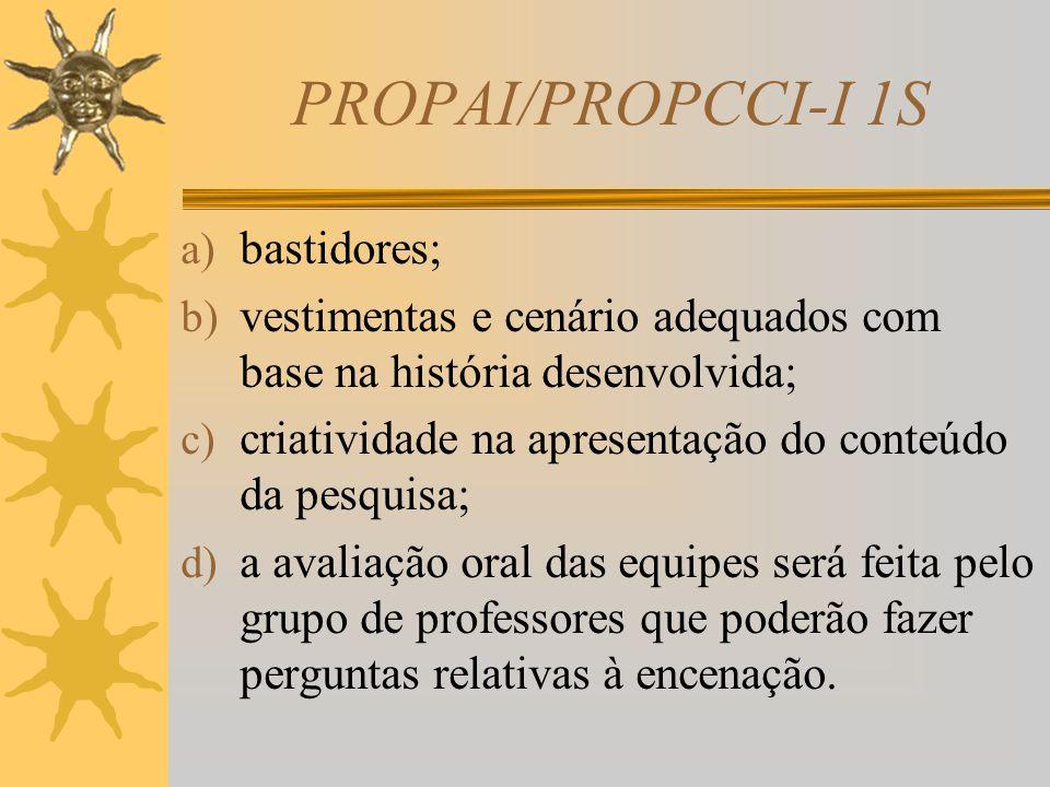 PROPAI/PROPCCI-I 1S Etapas para elaboração do teatro  As equipes deverão encenar a peça de teatro, contendo todas as informações descritas no script.