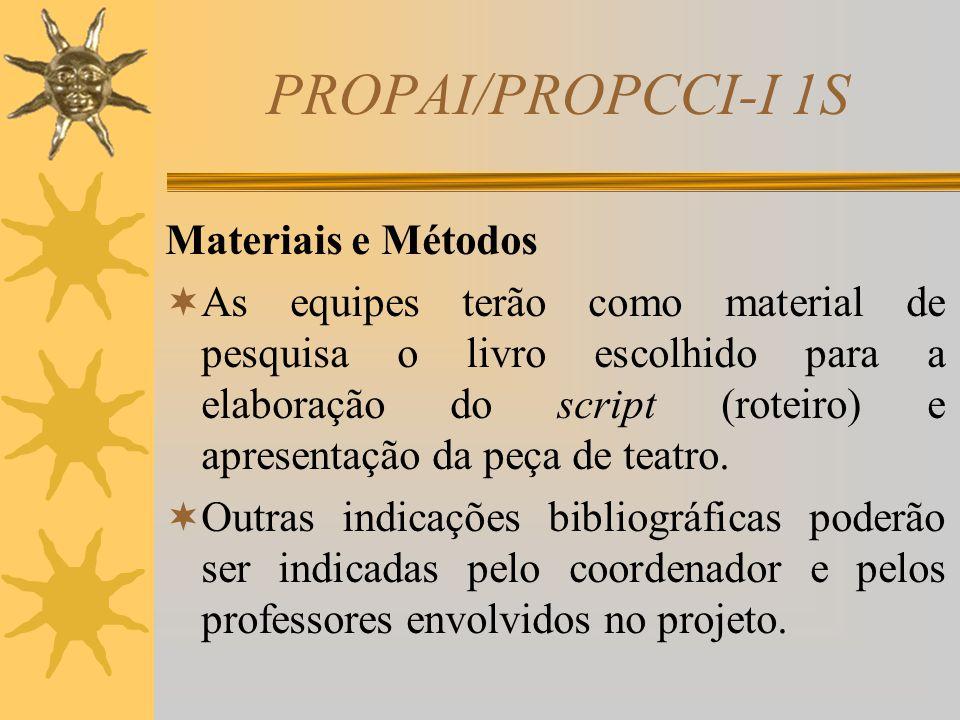 PROPAI/PROPCCI-I 1S Justificativa  Atualmente, o mercado de trabalho procura profissionais com amplo conhecimento e bom relacionamento interpessoal.