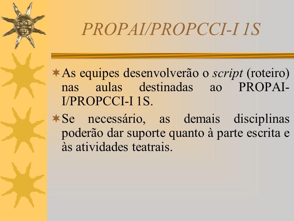 PROPAI/PROPCCI-I 1S Materiais e Métodos  As equipes terão como material de pesquisa o livro escolhido para a elaboração do script (roteiro) e apresen