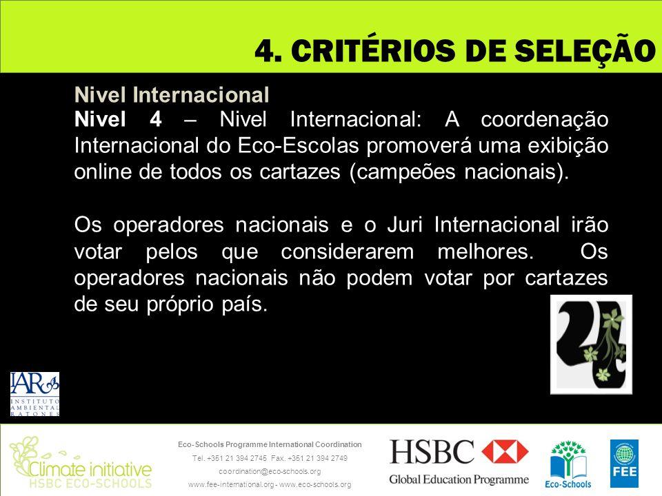 Eco-Schools Programme International Coordination Tel. +351 21 394 2745 Fax. +351 21 394 2749 coordination@eco-schools.org www.fee-international.org -
