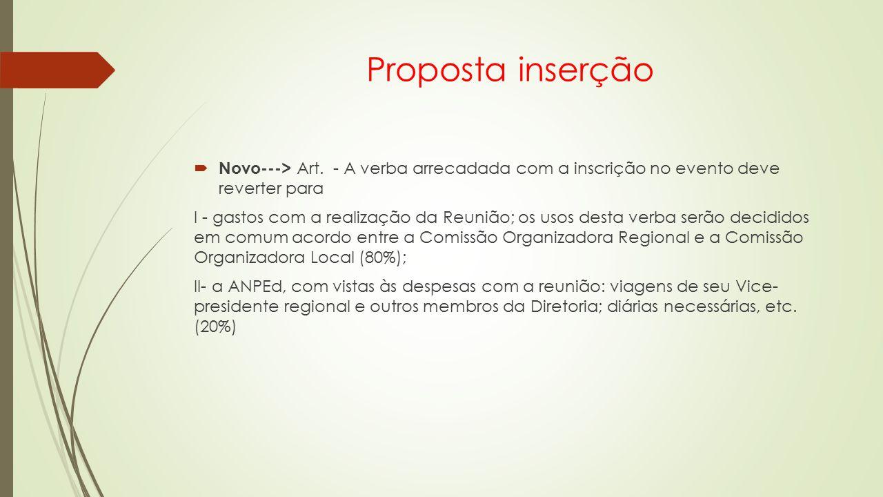 Proposta inserção  Novo---> Art.