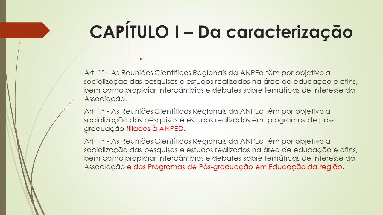 CAPÍTULO I – Da caracterização Art.