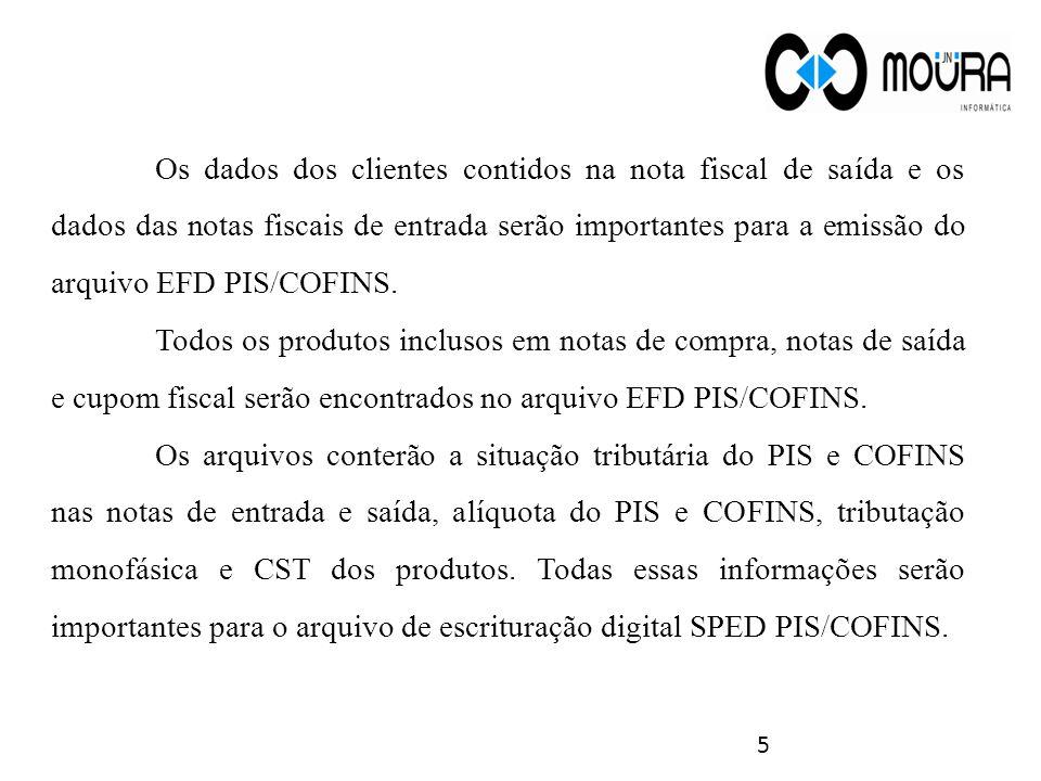6 Para gerar o arquivo a ser transmitido, abra o módulo Fiscal do sistema, menu Arquivos Fiscais e abra a tela Gerar Arquivo EFD- PIS/COFINS.
