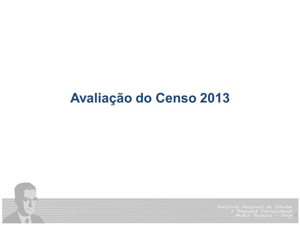 2 Avaliação do Censo 2013