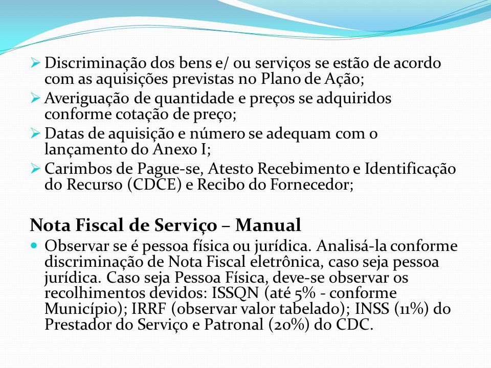 OBSERVAÇÃO: É vedada cobertura de despesas com tarifas de microfilmagens e devoluções de cheques sem fundo, em todos os programas.