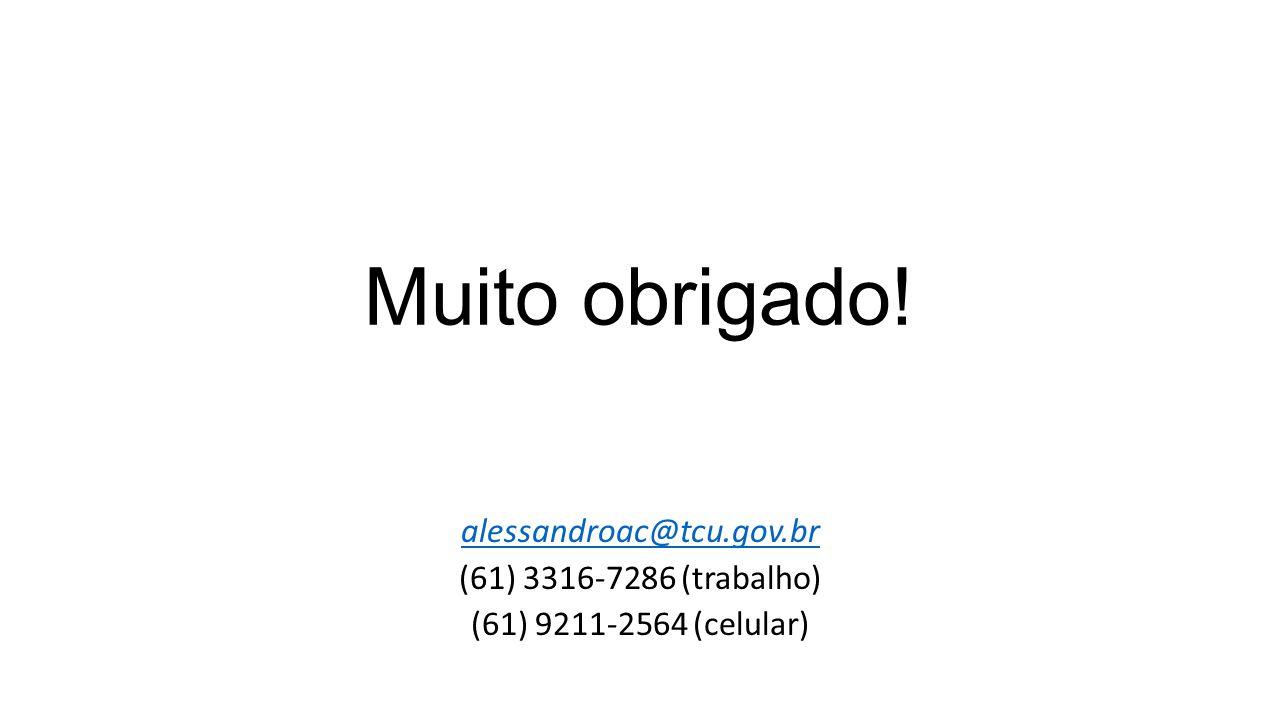 Muito obrigado! alessandroac@tcu.gov.br (61) 3316-7286 (trabalho) (61) 9211-2564 (celular)