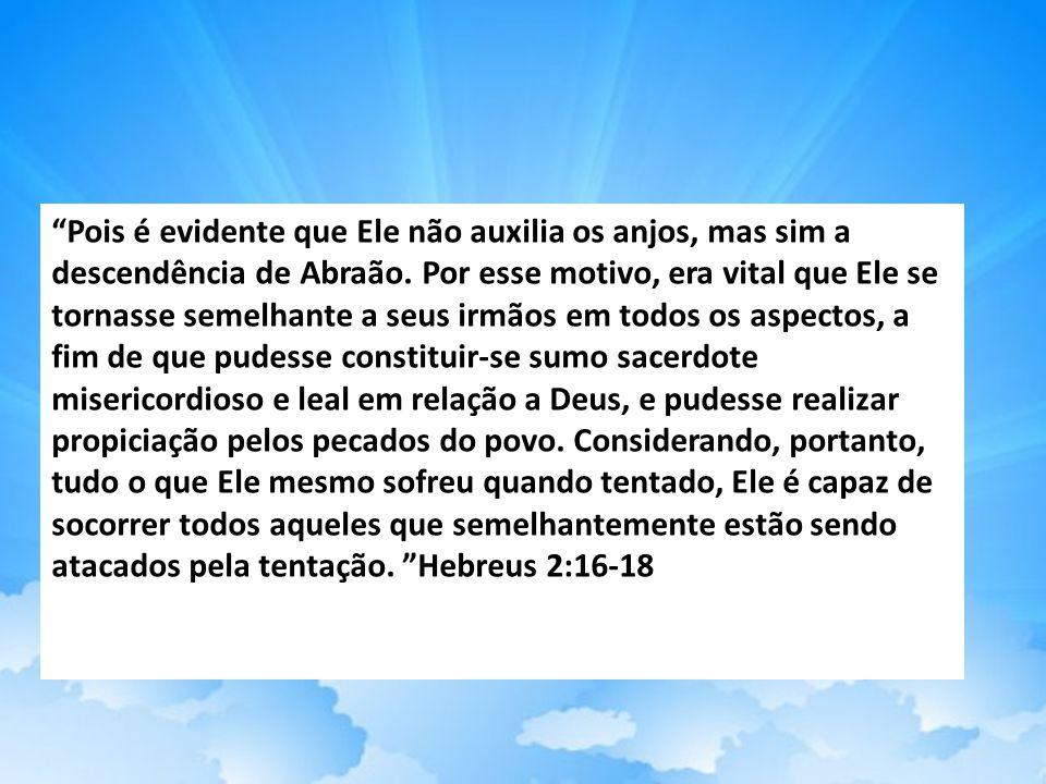 Pois é evidente que Ele não auxilia os anjos, mas sim a descendência de Abraão.
