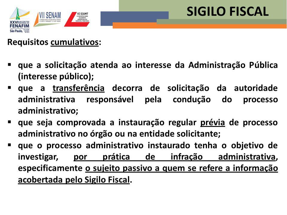 Requisitos cumulativos:  que a solicitação atenda ao interesse da Administração Pública (interesse público);  que a transferência decorra de solicit
