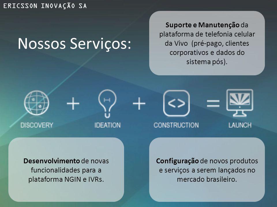 Suporte e Manutenção da plataforma de telefonia celular da Vivo (pré-pago, clientes corporativos e dados do sistema pós). Desenvolvimento de novas fun