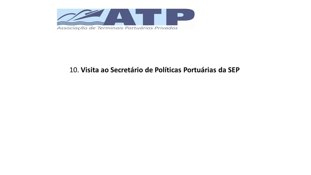 10. Visita ao Secretário de Políticas Portuárias da SEP