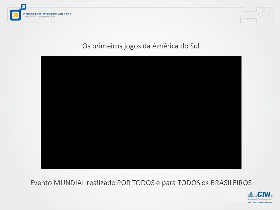Os primeiros jogos da América do Sul Evento MUNDIAL realizado POR TODOS e para TODOS os BRASILEIROS