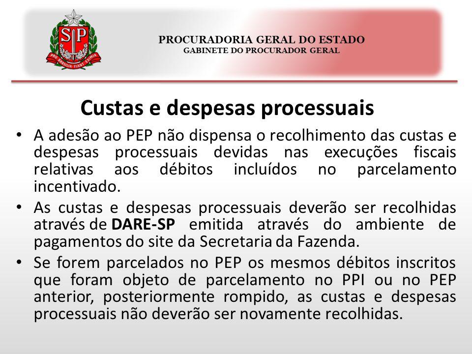 PROCURADORIA GERAL DO ESTADO GABINETE DO PROCURADOR GERAL Implicações do parcelamento especial Confissão irrevogável e irretratável do débito fiscal.