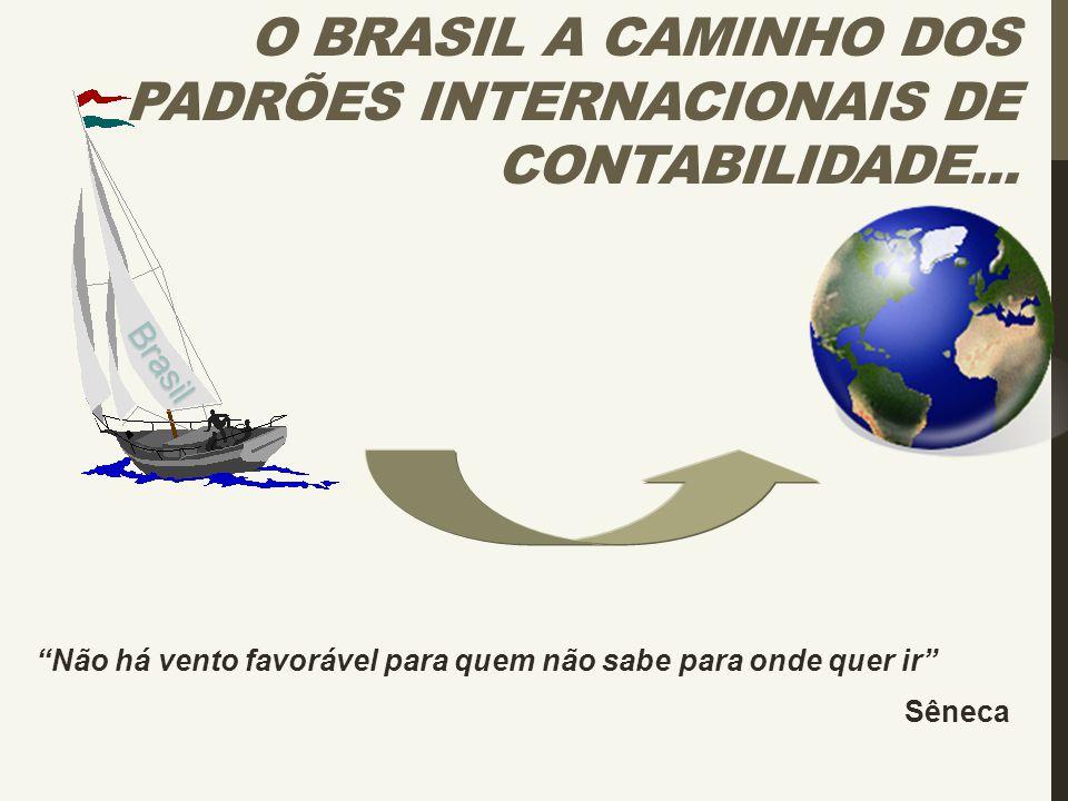 """""""Não há vento favorável para quem não sabe para onde quer ir"""" Sêneca O BRASIL A CAMINHO DOS PADRÕES INTERNACIONAIS DE CONTABILIDADE...Brasil"""