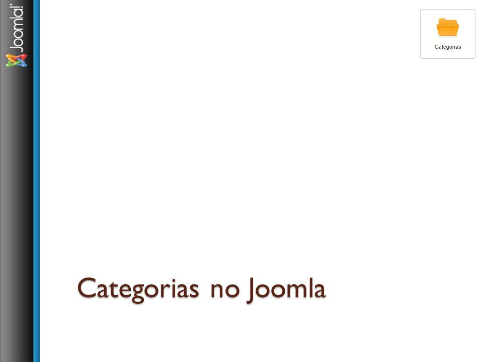 Categorias no Joomla
