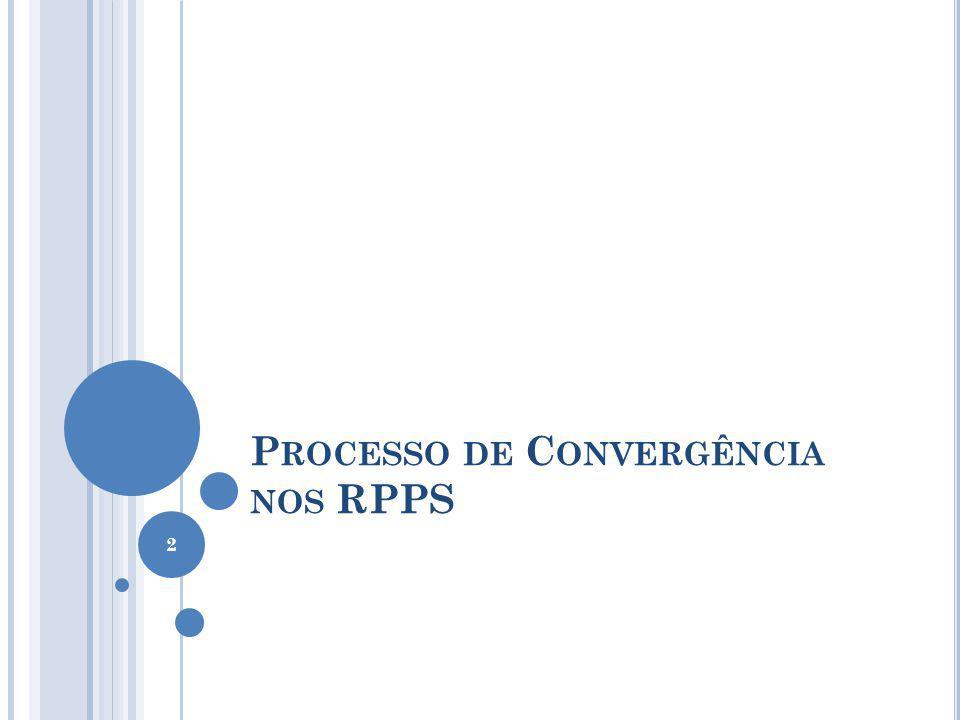 P ROCESSO DE C ONVERGÊNCIA NOS RPPS 2
