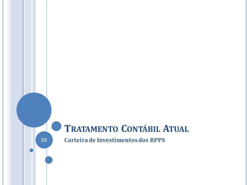 T RATAMENTO C ONTÁBIL A TUAL Carteira de Investimentos dos RPPS 23