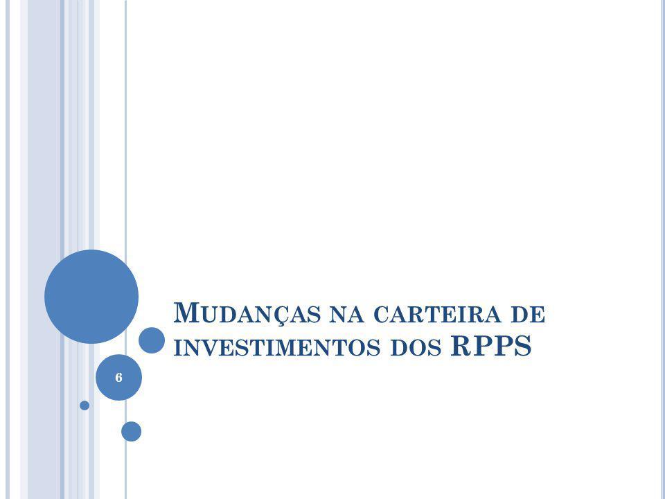 M UDANÇAS NA CARTEIRA DE INVESTIMENTOS DOS RPPS 6