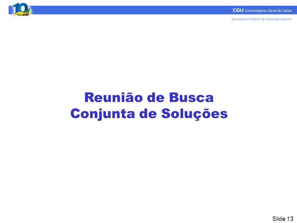Slide 13 Reunião de Busca Conjunta de Soluções