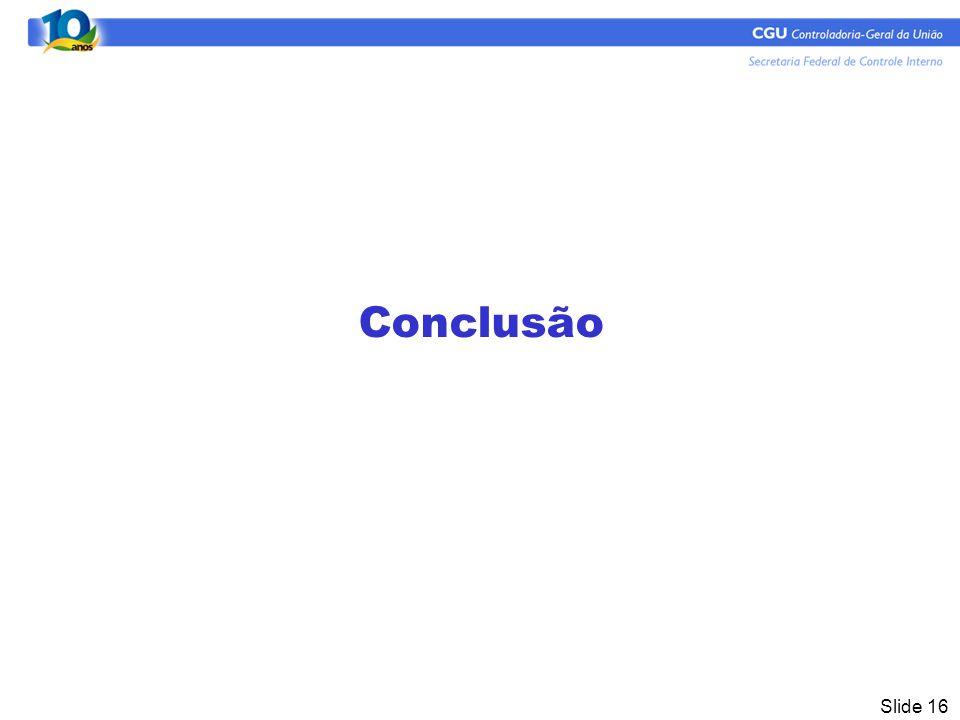 Slide 16 Conclusão