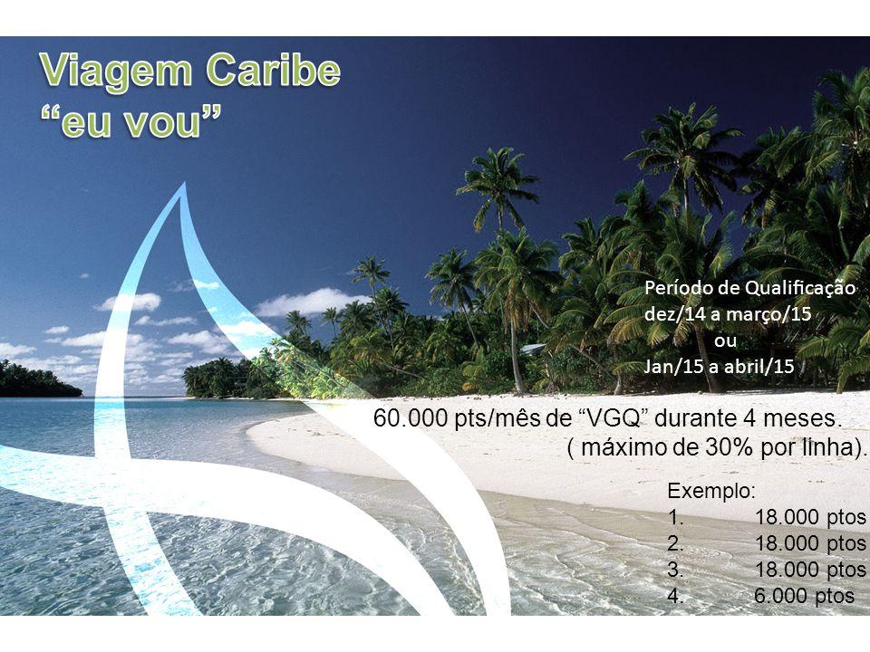 Exemplo: 1.18.000 ptos 2.18.000 ptos 3.18.000 ptos 4.6.000 ptos 60.000 pts/mês de VGQ durante 4 meses.