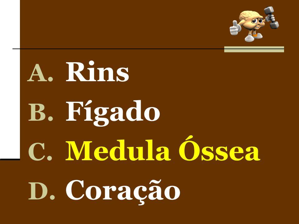 A. Rins B. Fígado C. Medula Óssea D. Coração