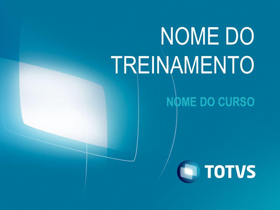 NOME DO CURSO NOME DO TREINAMENTO