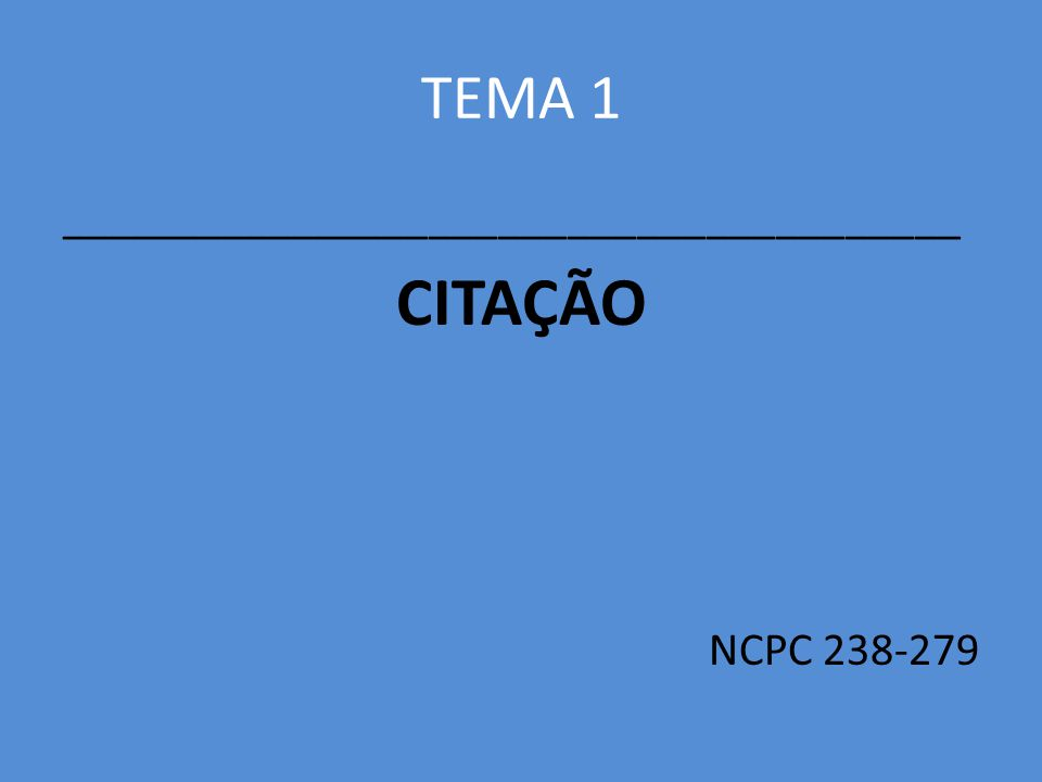 1.CONCEITOS E FINALIDADES Art. 238.