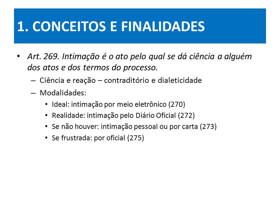 1.CONCEITOS E FINALIDADES Art. 269.