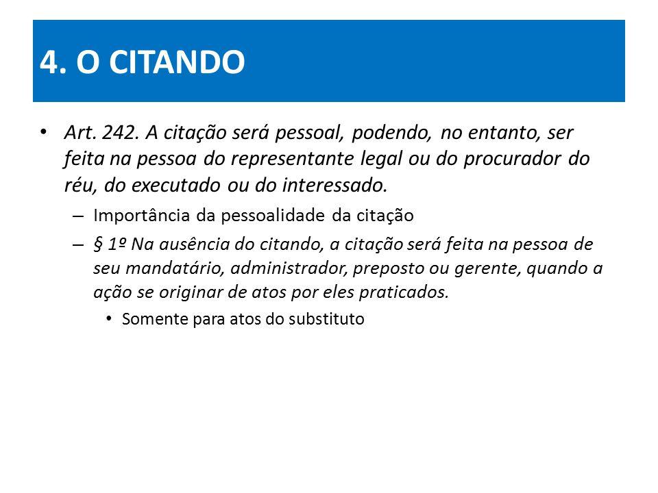 4.O CITANDO Art. 242.
