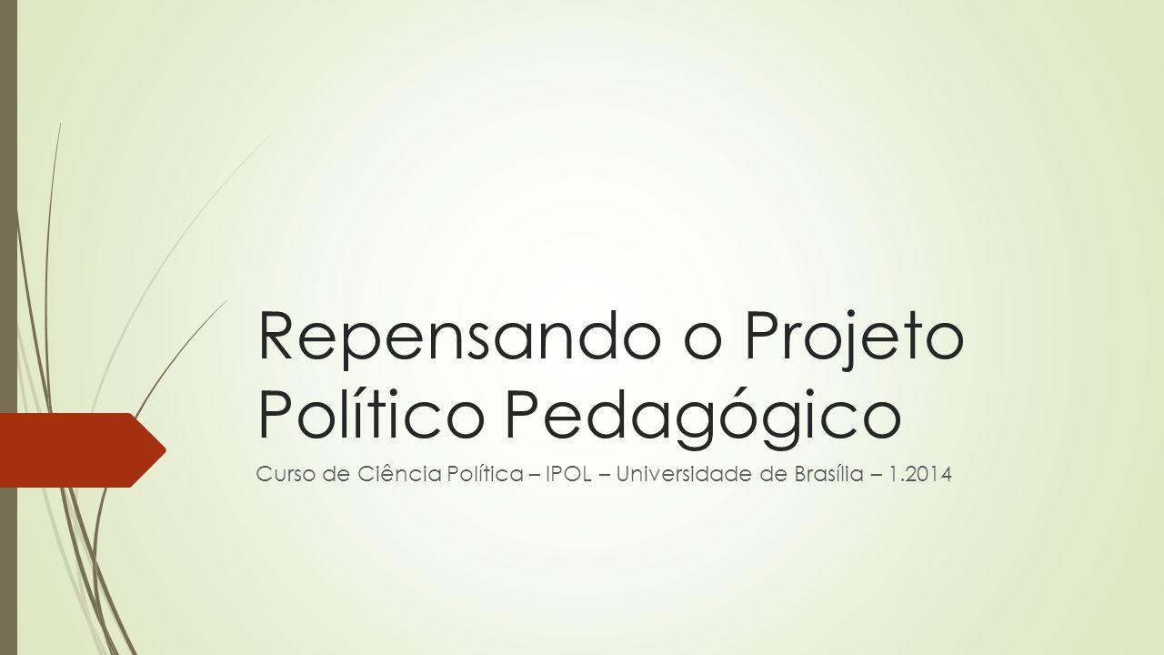 Repensando o Projeto Político Pedagógico Curso de Ciência Política – IPOL – Universidade de Brasília – 1.2014