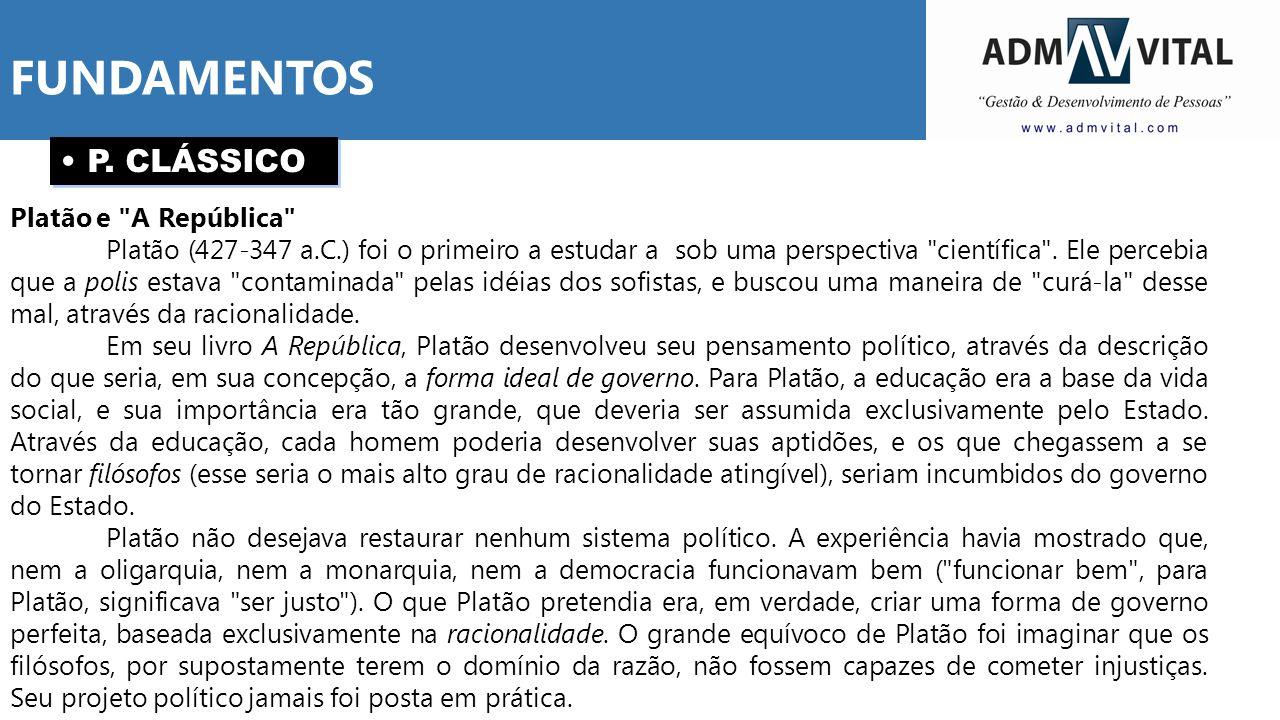 P. CLÁSSICO Platão e